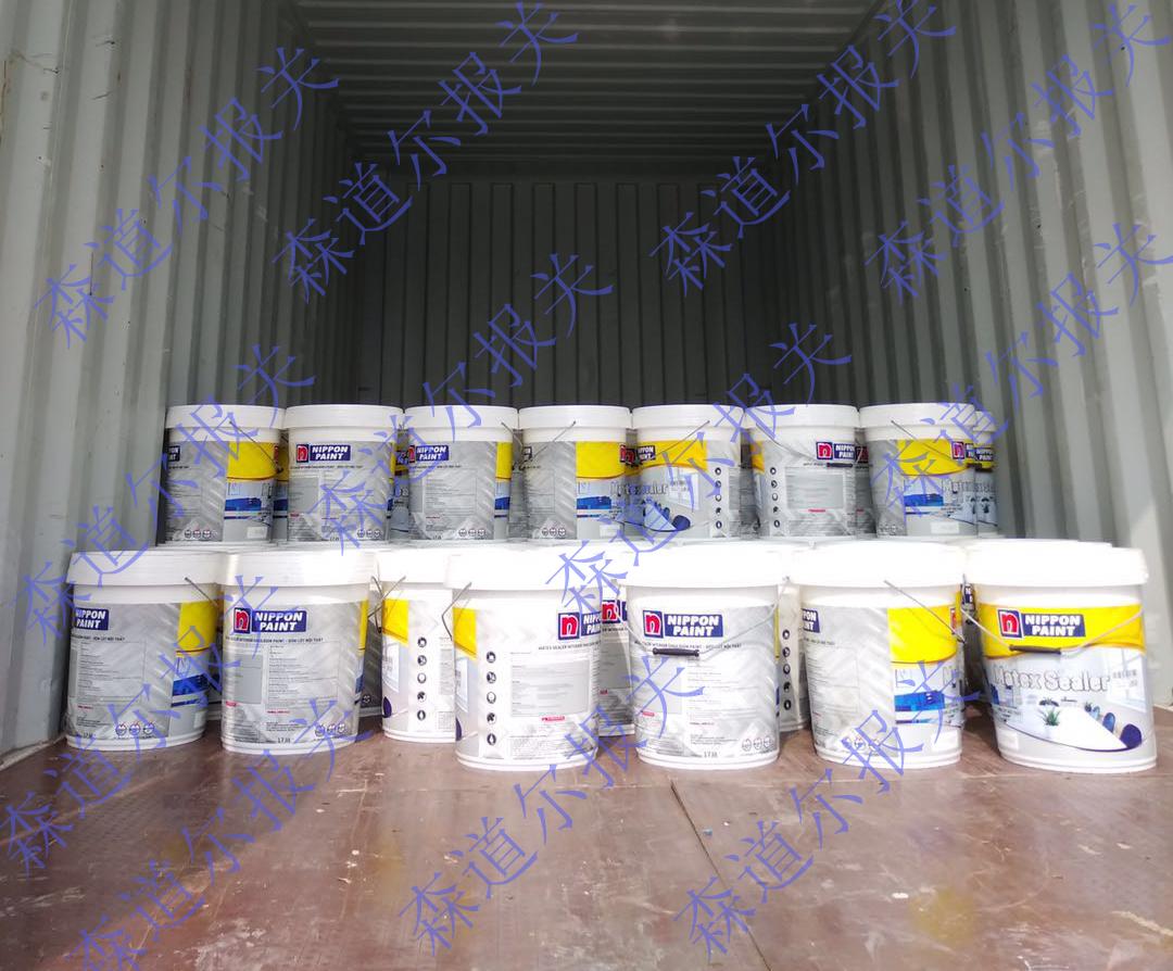 越南进口NIPPON水性乳胶漆黄埔港报关案例